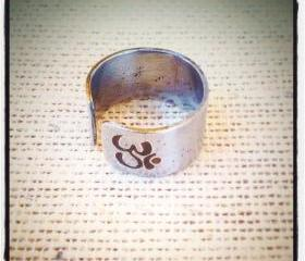 Personalized OM ring, Buddha ring, Initial Ring, personalized ring